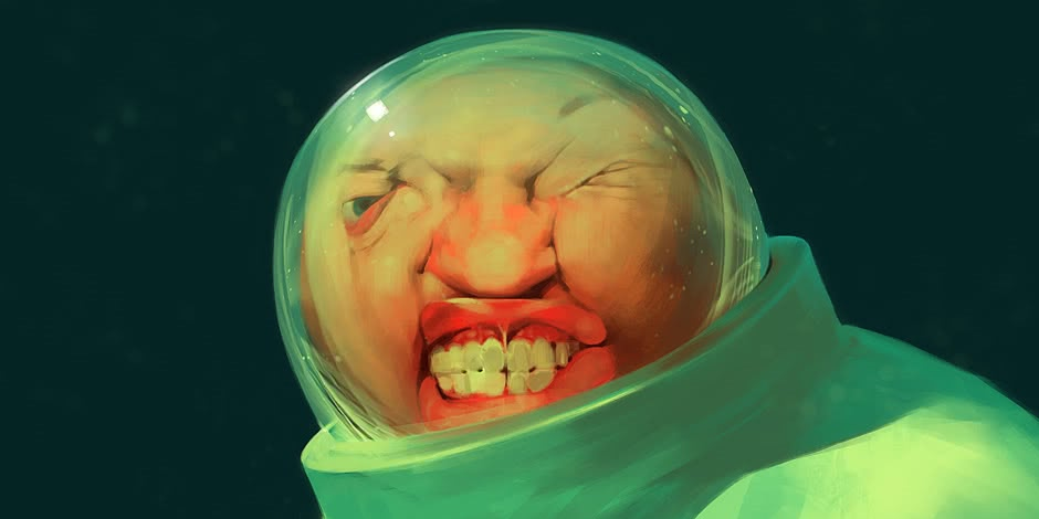 Russian artist Sergey Kolesov: Gloomy fantasy style drawing