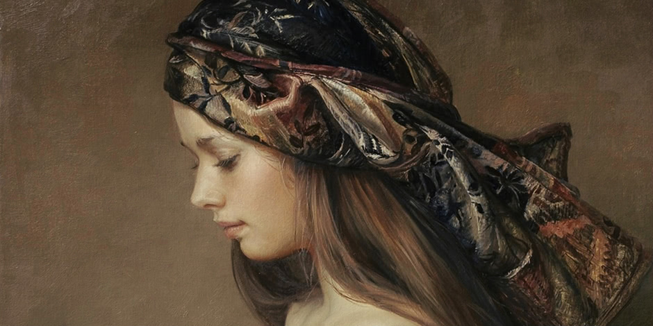 Women's images by the Russian realist artist Sergey Marshennikov