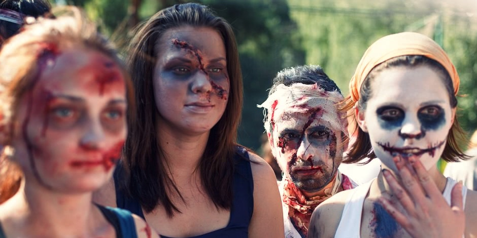 Enchanted race: Zombie attack in the Sokolniki Park in Moscow