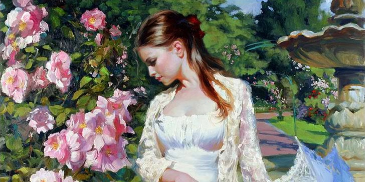Sensitive images: Women by the Russian painter Vladimir Volegov