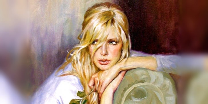 Women's portraits: Pictures by the Russian painter Andrei Markin