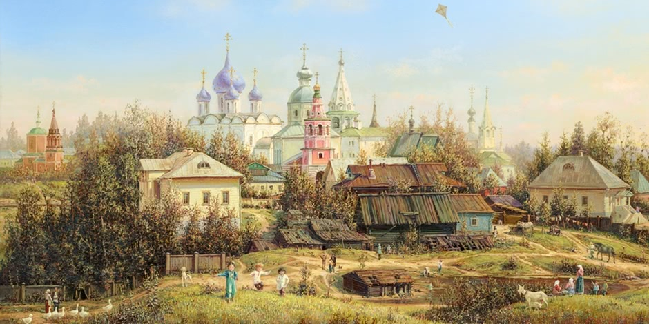 Russian expanses: Beauteous painting by the artist Sergey Panin
