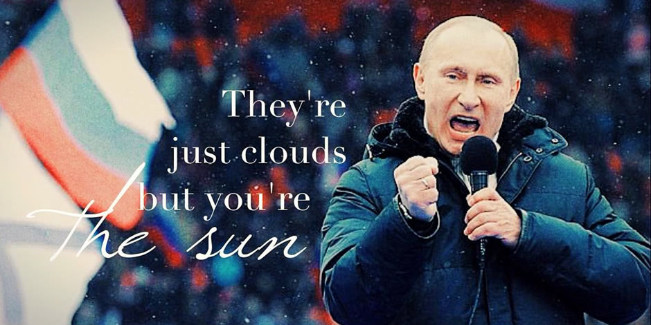 Putinspiration: 22 sarcastic motivational pictures with Putin