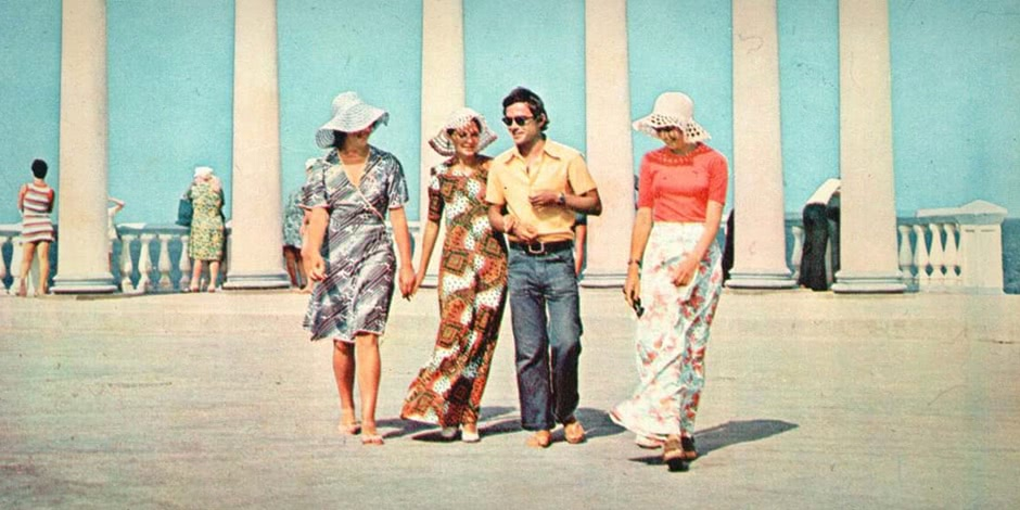 Historical photographs of Soviet Crimea's resort cities in 1970s