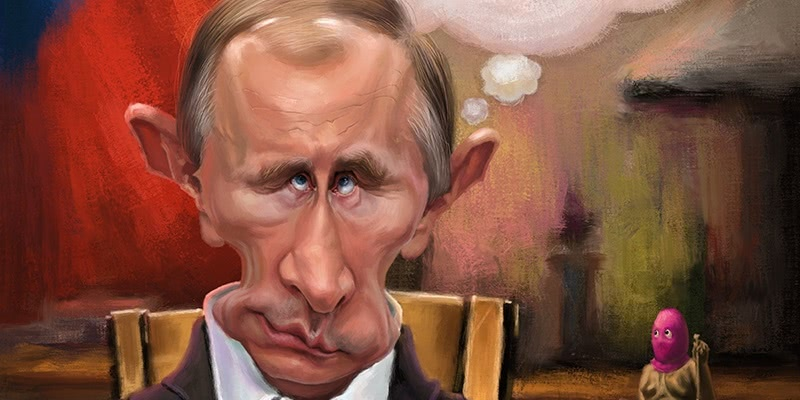 Cool painting by Russian caricaturist Alexander Novoseltsev