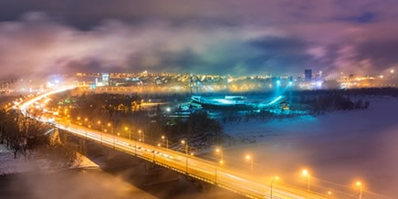 Winter Krasnoyarsk: Cool photos of the city from the sky