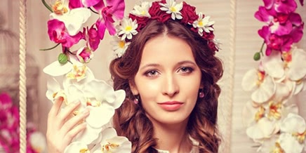 Photo of Russian girls from the contest Beauty of Russia: Spring photosession