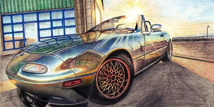 Photo of Excellent pencil drawing of cars by 15-year-old boy from Russia