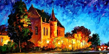 Urban landscapes drawing by Belarusian artist Leonid Afremov