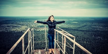 Climbing on old over-the-horizon radar system Duga in Chernobyl