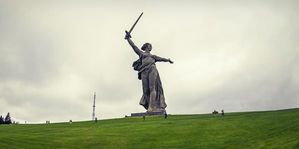 Photo of Climbing on top of the Motherland Calls Monument in Volgograd
