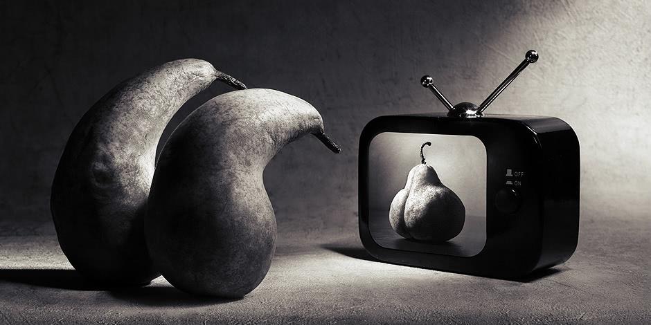 Black-white artwork by the Russian photographer Victoria Ivanova