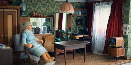 Soviet Russia in miniature: A model of a grandma's flat from 1970s