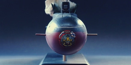 Great scale model of Russian submarine Yury Dolgorukiy (K-535)