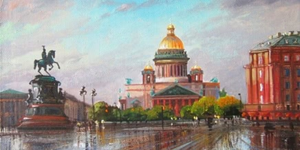 Pictures of glorious Saint Petersburg by the artist Vladimir Kulikov