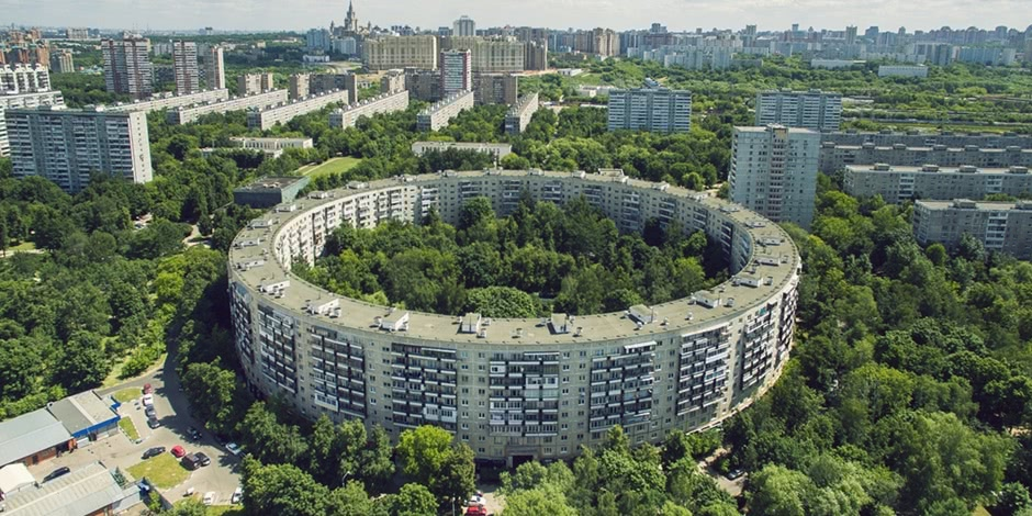 Russian unique architecture which looks better from above