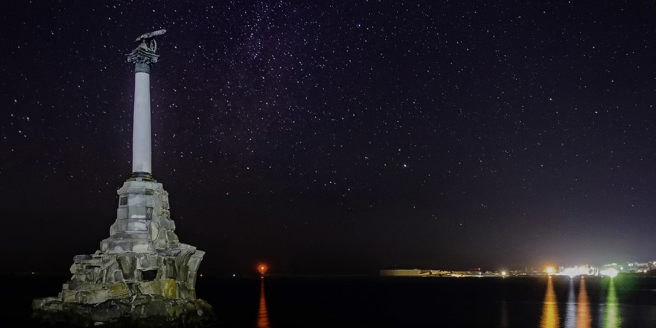 Starry sky of Sevastopol on photographs by Victoria Stupina