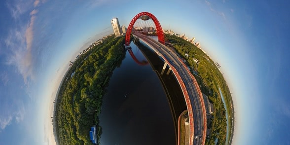 Photos of famous symbols of Moscow taken from unusual angles
